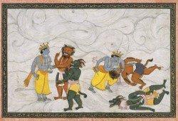 Madhu & Kaitabha get theirs from Vishnu & light overcomes darkness once again.